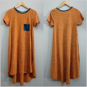 LuLaRoe Small Carly Hi Low Short Sleeve Dress Midi